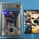 BAS 10 Peyton Manning On card Autograph Game Used Auto Andrew Luck TY Hilton /99