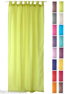 TAB TOP ORGANZA VOILE NET CURTAIN PANEL EXTRA LONG 240cm 94 Inches Drop EBay