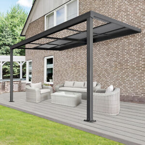 details about x pergola canopy patio roof patio aluminium sunroof