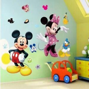 details sur sticker mural mickey minnie donald poster autocollant decoration chambre enfant