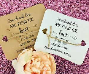 Details About Tying The Knot Save Date Evening Card Wedding Invitation With An Envelope