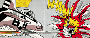 Whaam! 1963 by Roy Lichtenstein Diptych Art Print Set Tate Gallery London
