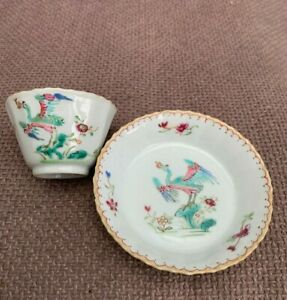chinese 18th century porcelain cup and saucer