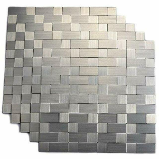 aluminum peel and stick backsplash for kitchen no grout strong adhesive wall