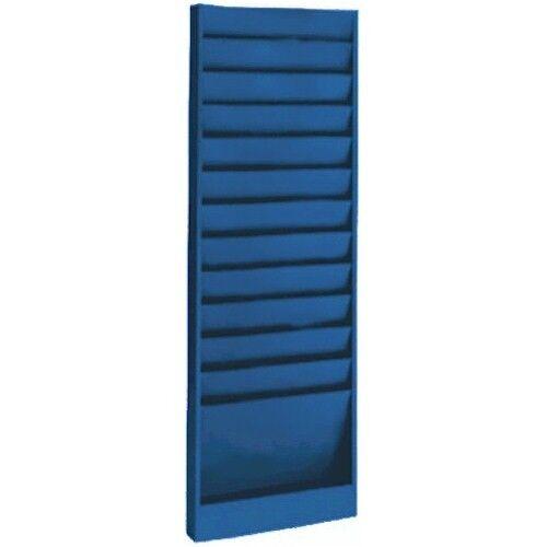 files supplies work order rack blue 9 3 4 w x 6 d pockets 12 pocket model 173 bobrowsky
