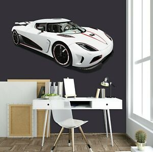 Wall murals bring your floors and home to life with stunning d floor art. 3d Koenigsegg Car G177 Car Wallpaper Mural Poster Transport Wall Stickers Wendy Ebay