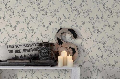 papier peint outils access 2 59 1qm nappes papier peint floral lianes blanc argent brillant 36896 2 bricolage superiorhwc com