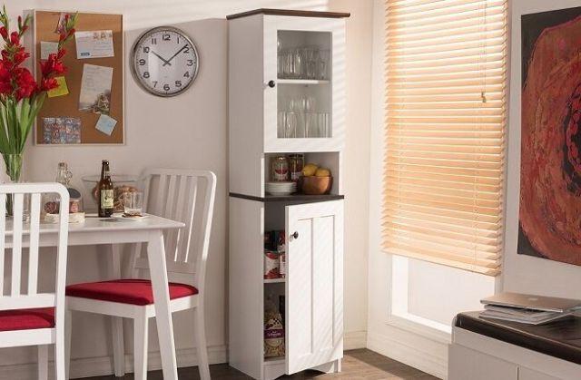 Kitchen Pantry Tall Food Storage Cupboard Cabinet Shelves White Organizer Baking 2