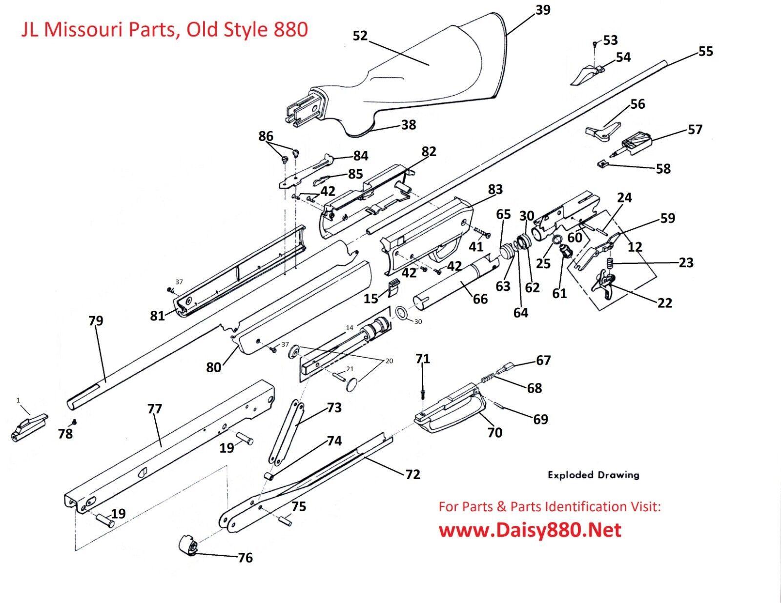 33 Sheridan Air Rifle Parts Diagram