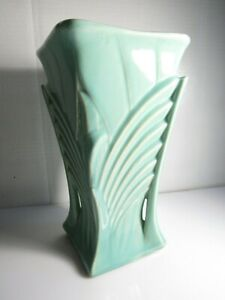 details about vintage mccoy pottery vase art deco large 9