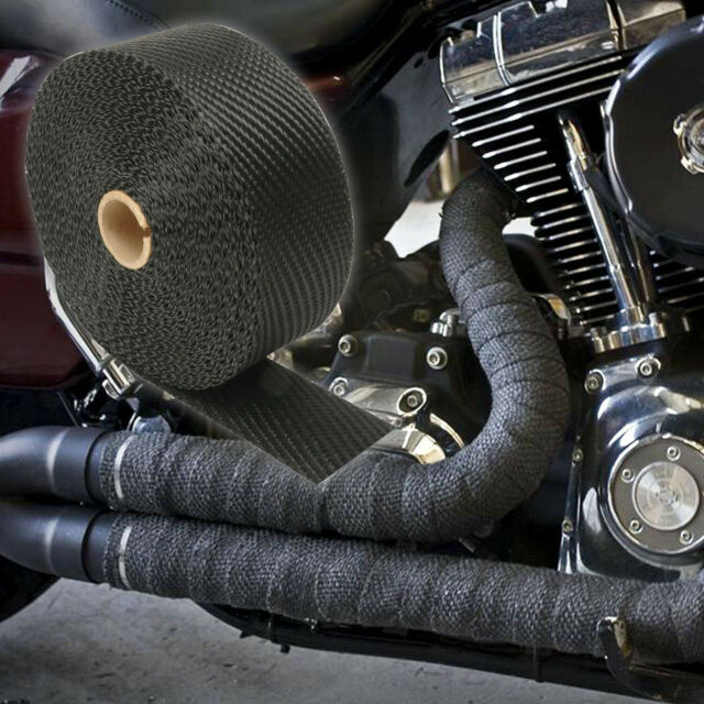 custom triumph bonneville motorcycle exhaust wrap black 50ft roll