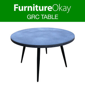 details about furnitureokay grc outdoor dining table 120cm round patio furniture