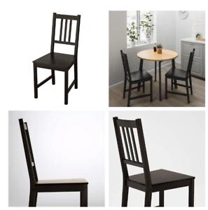 details sur ikea chaise stefan de cuisine salle a manger robuste bois massif neuf