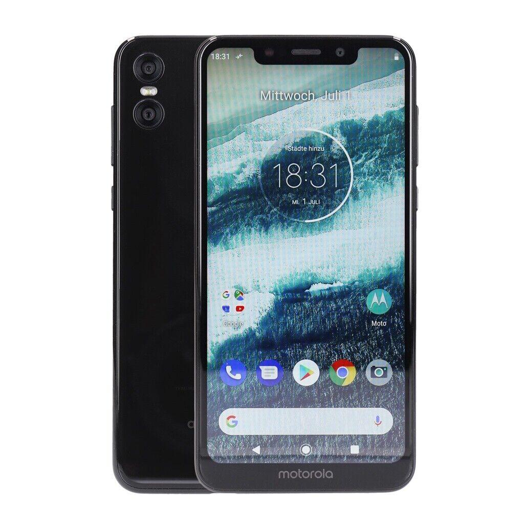 Motorola Moto One 64GB Schwarz Android Smartphone Kundenretoure wie neu