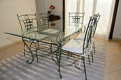 salle a manger table en verre et 6 chaises ebay