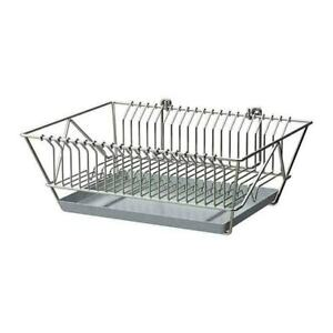 details about ikea fintorp dish drainer place on worktop or wall hung kitchen basket tray