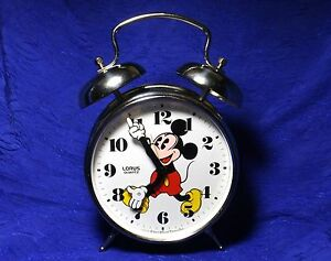 Vintage Large Mickey Mouse Alarm Clock