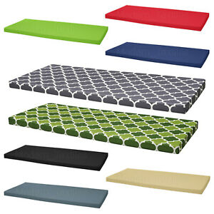 details about waterproof garden bench patio pad seat pads chair cushion swing 2 seater outdoor