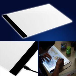 A4 USB LED Art Artist Tattoo Stencil Board Light Tracing Drawing Pad Table Box