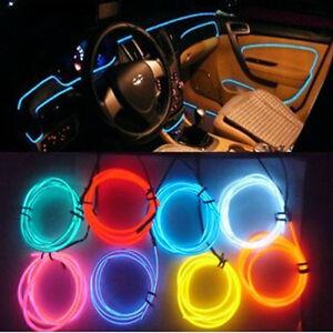 1M 12V EL Wire Car Ambient Lighting Inside Vehicle Cold