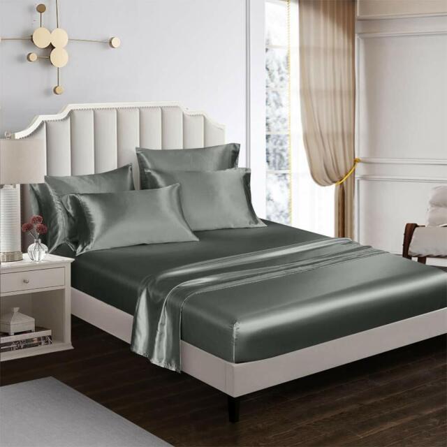 black satin sheet set queen bed sheets