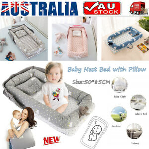 details about new baby nest pillow bed newborn babies bassinet for lounger pod cot sleeping au