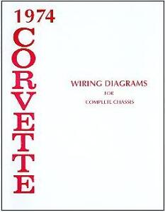 1974 74 CORVETTE WIRING DIAGRAM MANUAL | eBay