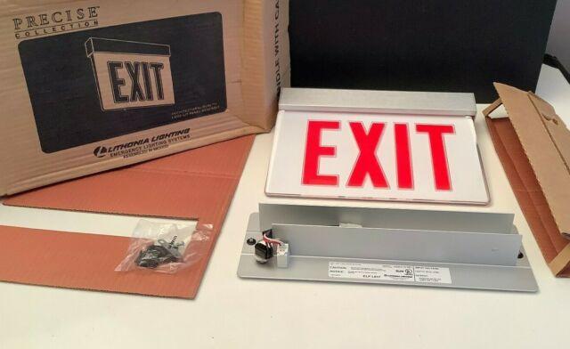 lithonia lighting lrp 1rw120 277 exit sign precise edge lit exits led lights
