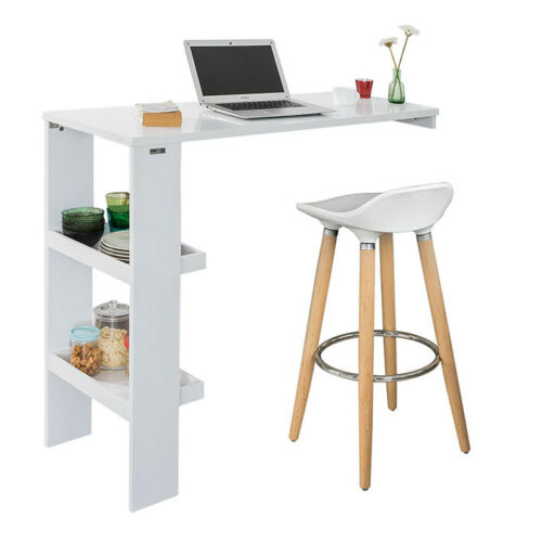 mobel sobuy table de bar murale table haute de bar mange debout cuisine fwt55 w fr mobel wohnen blowmind com br