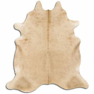 details sur vrai tapis en peau de vache beige taille 6 par 7 pi qualite superieure