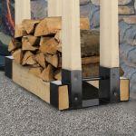 Adjustable Firewood Log Rack Bracket Holder Kit Storage Steel By Pleasant Hearth For Sale Online