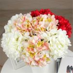 Rose Artificial Silk Peony Flower Hydrangea Bouquet Wedding Party Home Decor For Sale Online