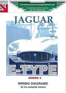 Jaguar Series 3 Etype Exploded Wiring Diagram Book (9193)