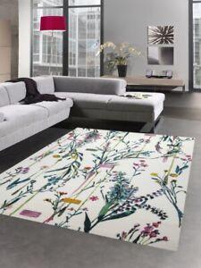 details sur tapis salon design tapis moderne fleurs creme vert rose