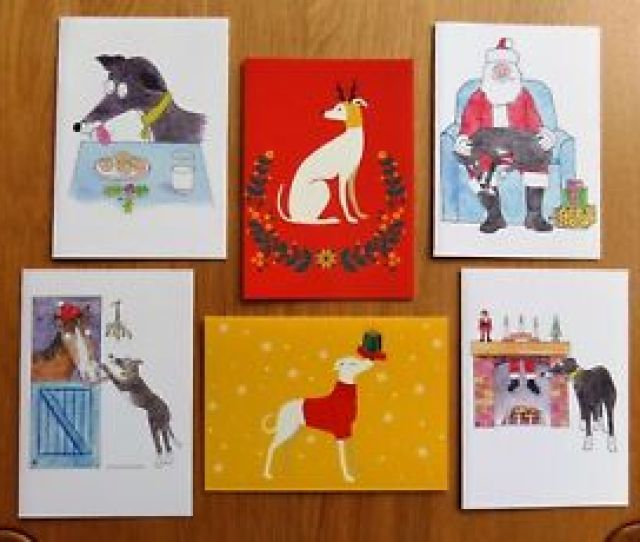 Image Is Loading Tia Greyhound Dog Rescue Charity Christmas Cards Pack