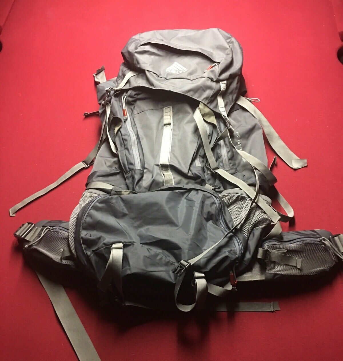 kelty red cloud 90 internal frame backpack med lg charcoal hiking camping