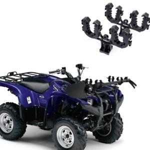 details about atv gun rack double bow utility four wheeler hunting tool storage rhino grip new