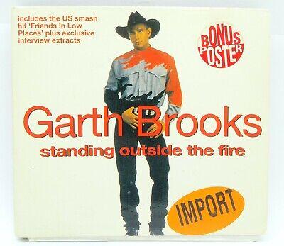 garth brooks standing outside the fire single cd with bonus poster