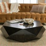 Minimalist Large Round Light Wood Coffee Table Modern Geometric Block For Sale Online Ebay