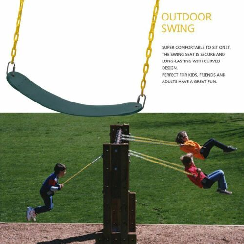 outdoor heavy duty swing seat set kids play hanging replacement w 60 inch chains patio chairs swings benches home garden