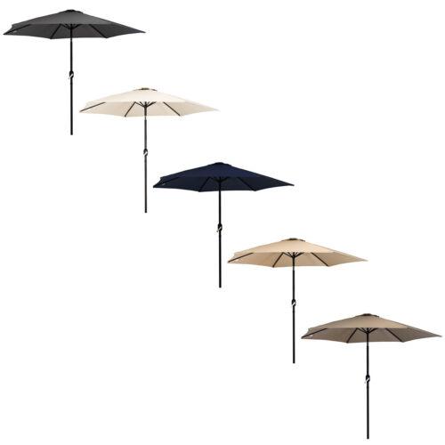tuin en terras colours charles bentley garden metal patio umbrella parasol with crank tilt luxclusif com