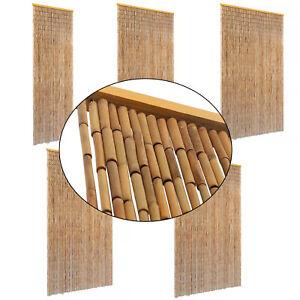 details sur vidaxl rideau porte contre insectes bambou pare vue moustiquaire multi taille