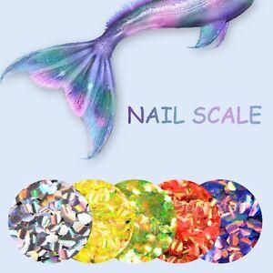 2g Nail Art Sequins Fish Scale Mermaid Hexagon Glitter Manicure DIY BORN PRETTY