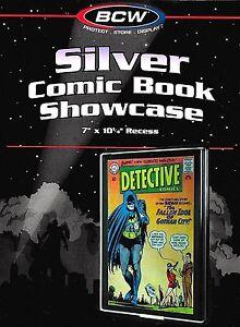 Silver Comic Showcase Display Case Wall Mount Frame BCW Storage Supplies