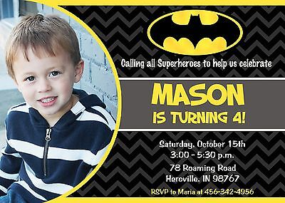 batman superhero birthday party birthday invitation ebay