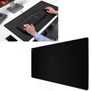 details sur grand tapis souris bureau ordinateur caoutchouc naturel 300x600x2mm noir lisse