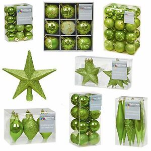 A Green Collection Christmas Decorations Baubles Stars Cones Hearts Tree Topper Ebay