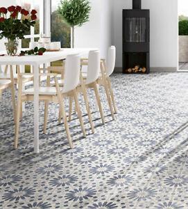 details about cut tile samples zanzibar blue moroccan porcelain wall floor tiles