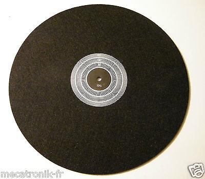tapis couvre plateau feutre antistatique pour platine vinyle avec strobe 50hz ebay