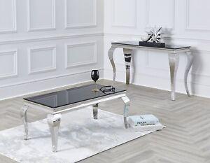 white marble glass chrome legs